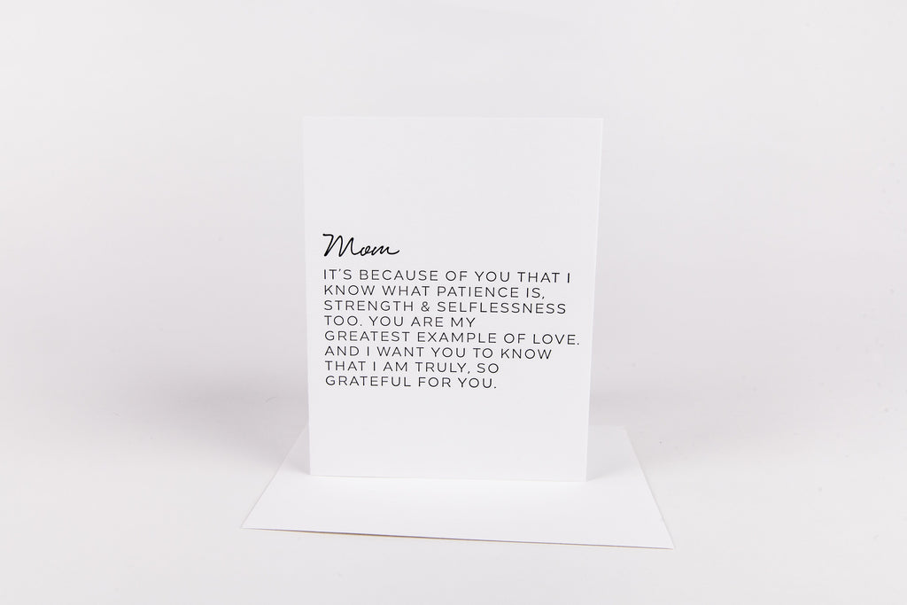 W&C Cards - Mom it's because of you