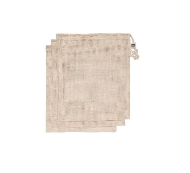 Cotton Mesh Produce Bags - s/3 Natural
