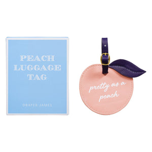 Draper James Pretty as a Peach Luggage Tag