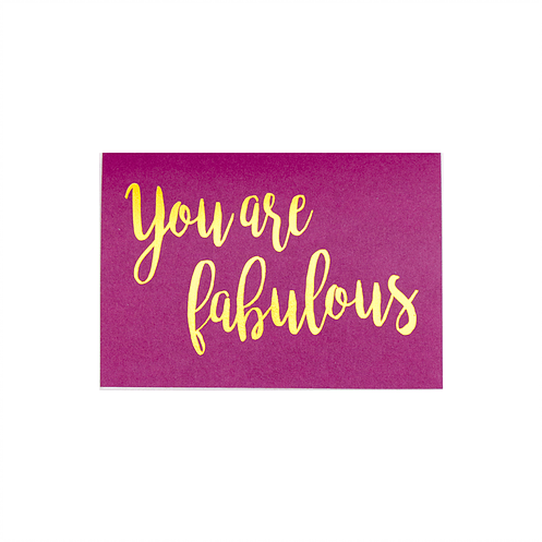 RedPB Card - You are Fabulous
