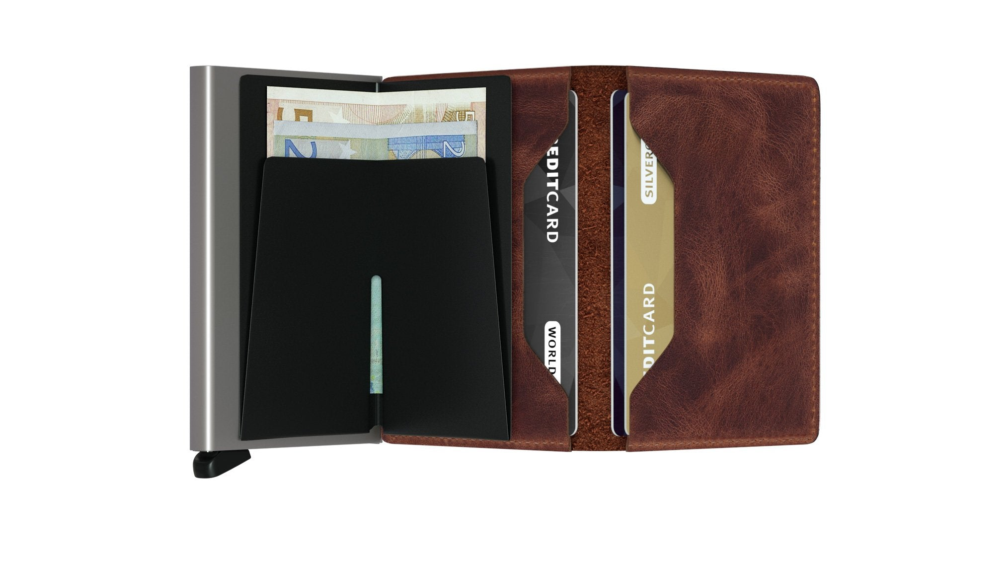 Slimwallet - Vintage Brown