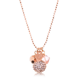 H&B Necklace - Sparkle Ball™ Cluster Rose Gold