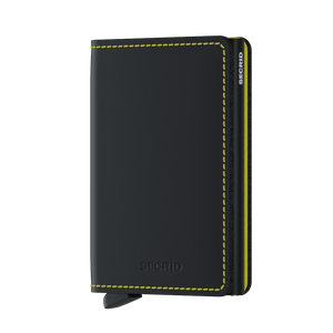 Slimwallet - Matte Black & Yellow
