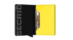 Load image into Gallery viewer, Slimwallet - Matte Black & Yellow