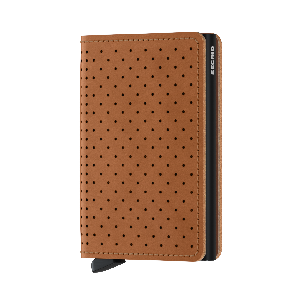 Slimwallet - Perforated Cognac