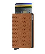 Load image into Gallery viewer, Slimwallet - Perforated Cognac