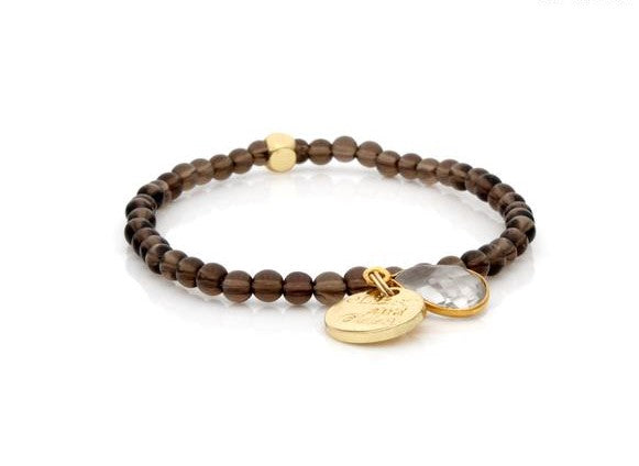 E&E Bracelet - Smoky Quartz 4mm