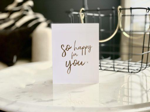 W&C Cards - So Happy For You