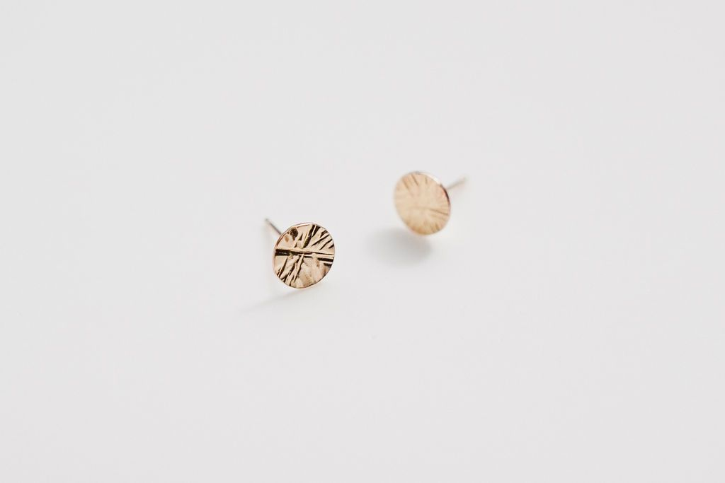 Stud Earrings - Starburst Gold