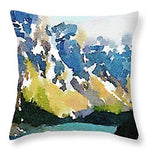 Load image into Gallery viewer, L Rempel Art Cushion - Ten Peaks