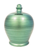 Load image into Gallery viewer, Terramundi Pot - Metallic Green