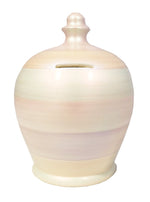 Load image into Gallery viewer, Terramundi Pot - White Pearl Stripe