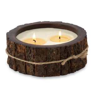 Tree Bark Candle - Medium Mountain Forest
