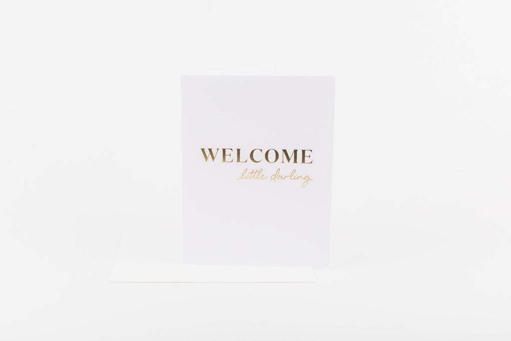 W&C Cards - Welcome little darling