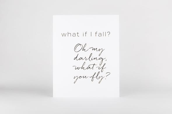 Art Print - What If I Fall Print