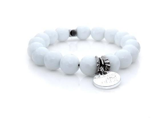 E&E Bracelet - White Jade 10mm