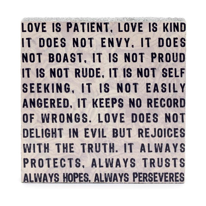 Wall Tile - Love is Patient
