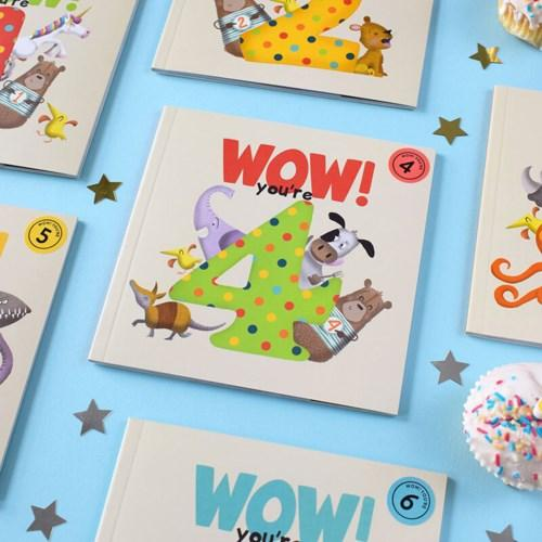 Wow! Birthday Card/Book - You're 4