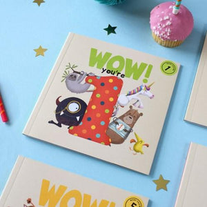 Wow! Birthday Card/Book - You're 1