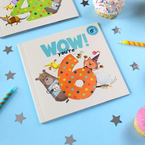 Wow! Birthday Card/Book - You're 6