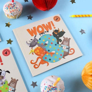 Wow! Birthday Card/Book - You're 3