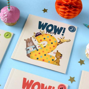 Wow! Birthday Card/Book - You're 2