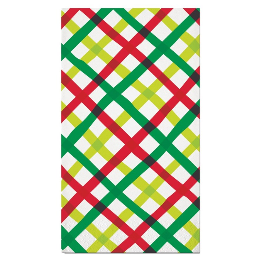 Guest Towels - Holiday Plaid