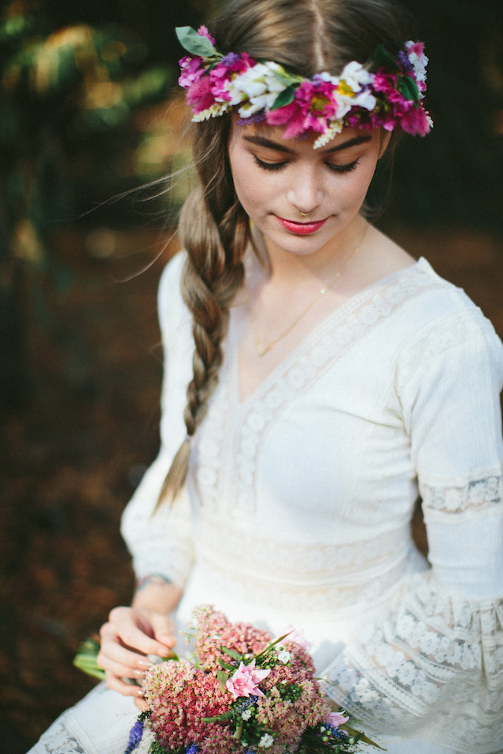 Katie Thirkill Bride Taylor Flower Crown Rock N Rose