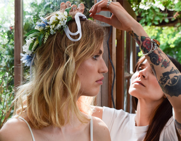 Rock N Rose - the right flower crown for a wedding