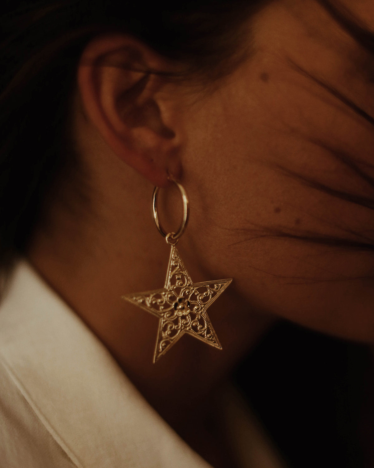 Adriel Star Hoop Earrings