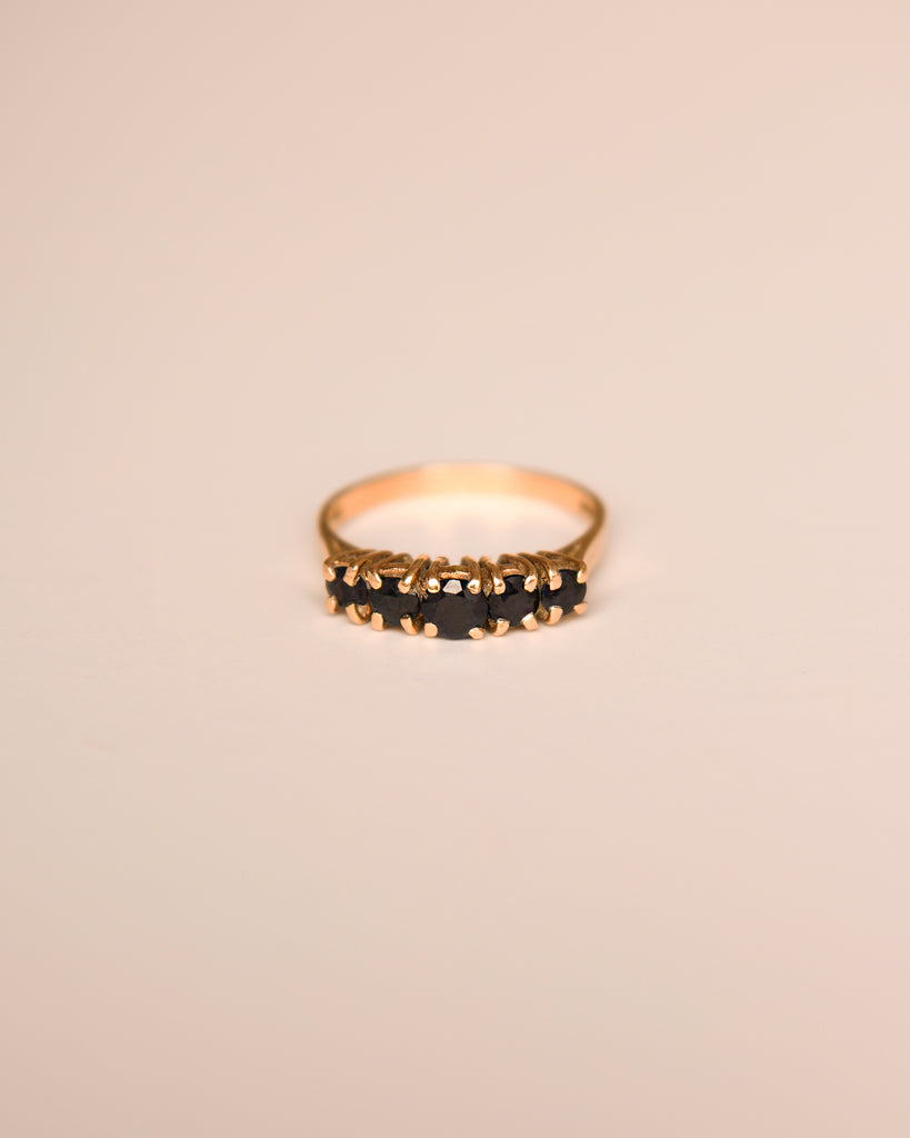 Nell 9ct Gold Vintage Sapphire Ring