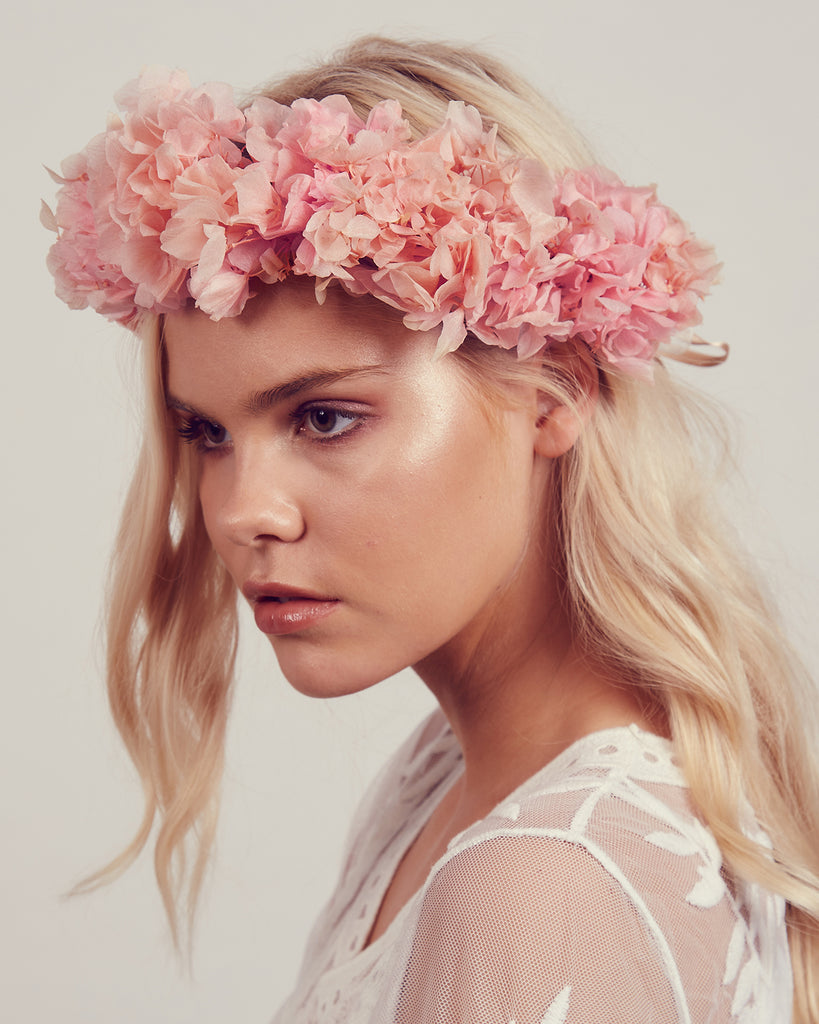 Mathilde Preserved Hydrangea Flower Crown