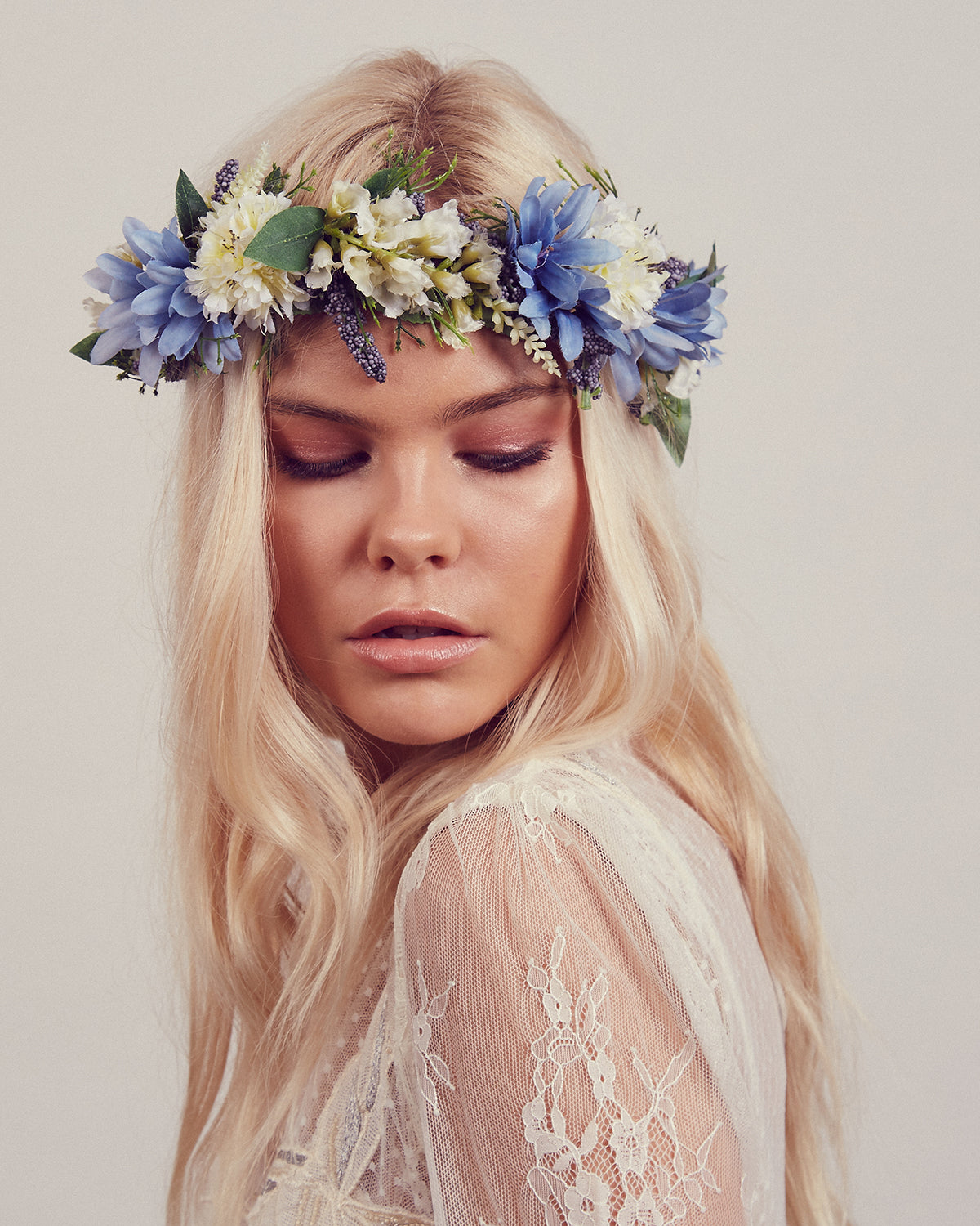 Image of Cambridge Floral Meadow Crown Headband