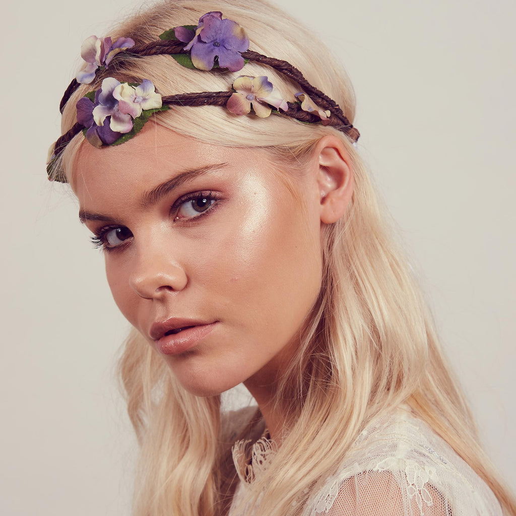 Image of RAMONA Purple Floral Crown Headband