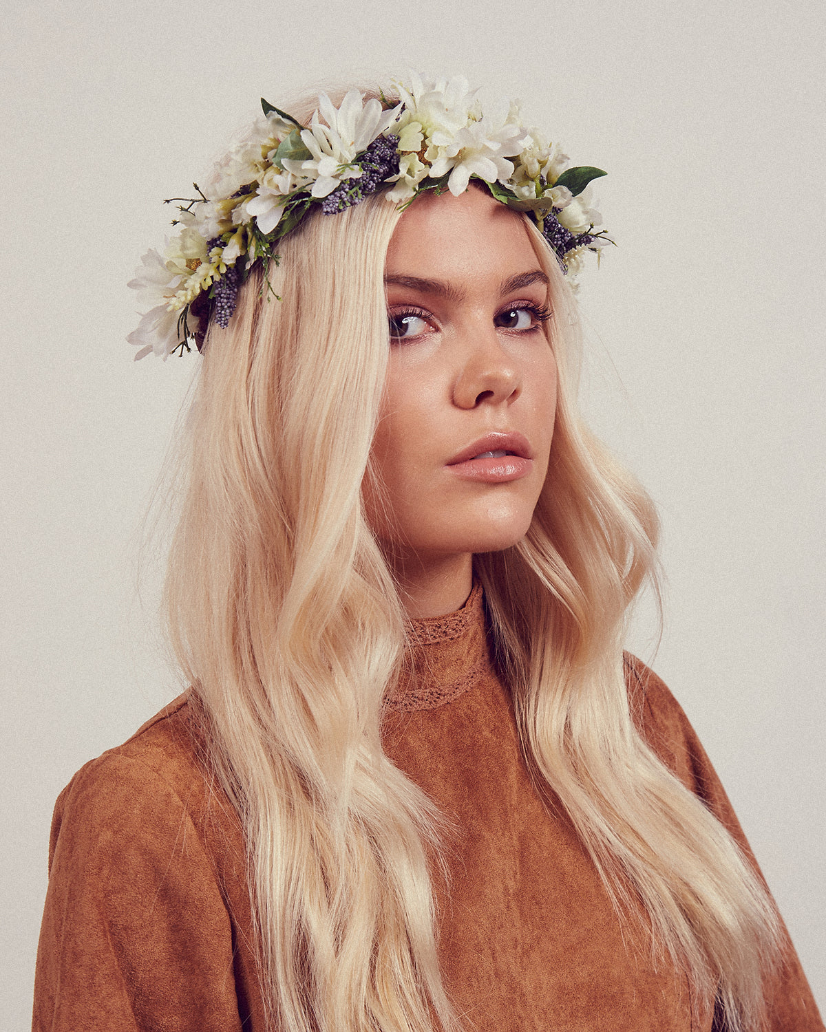 Image of Sienna Floral Meadow Crown Headband