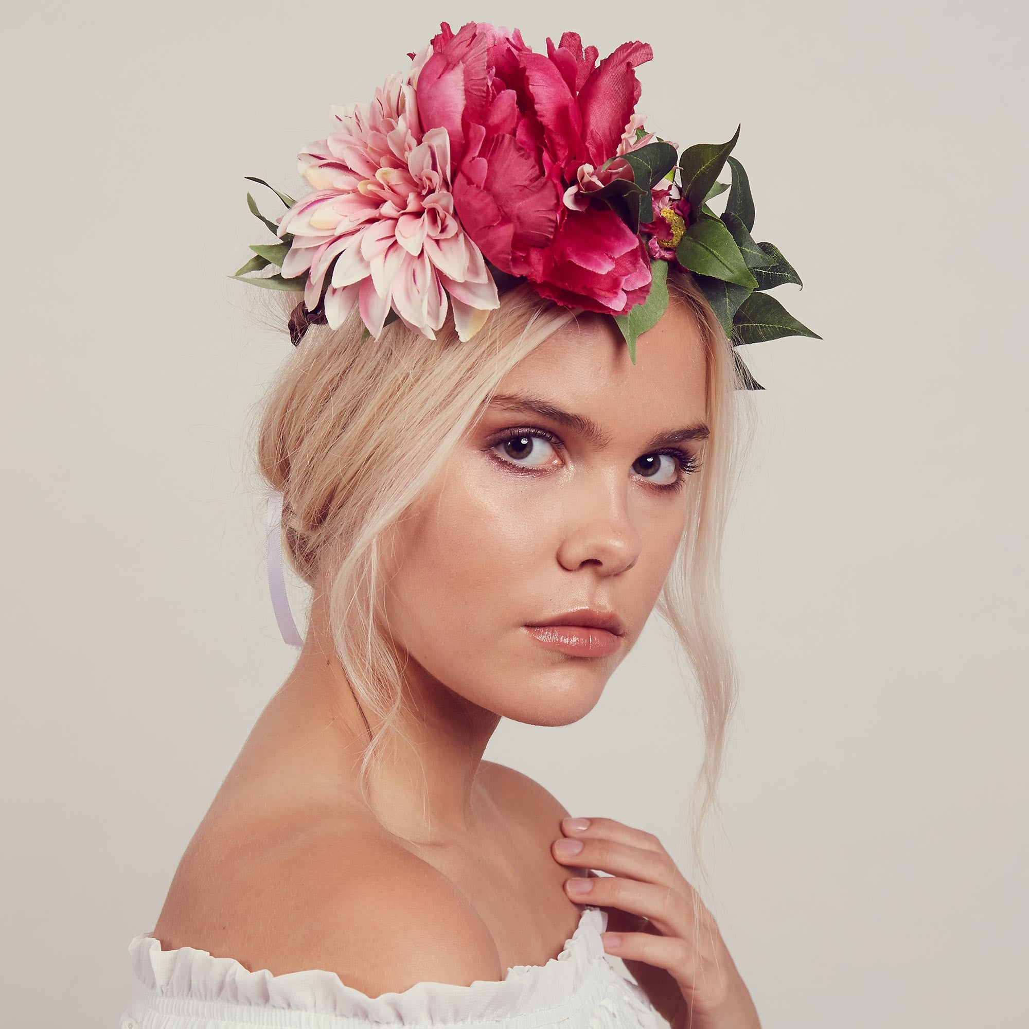 Image of ROSALIE Floral Wreath Crown