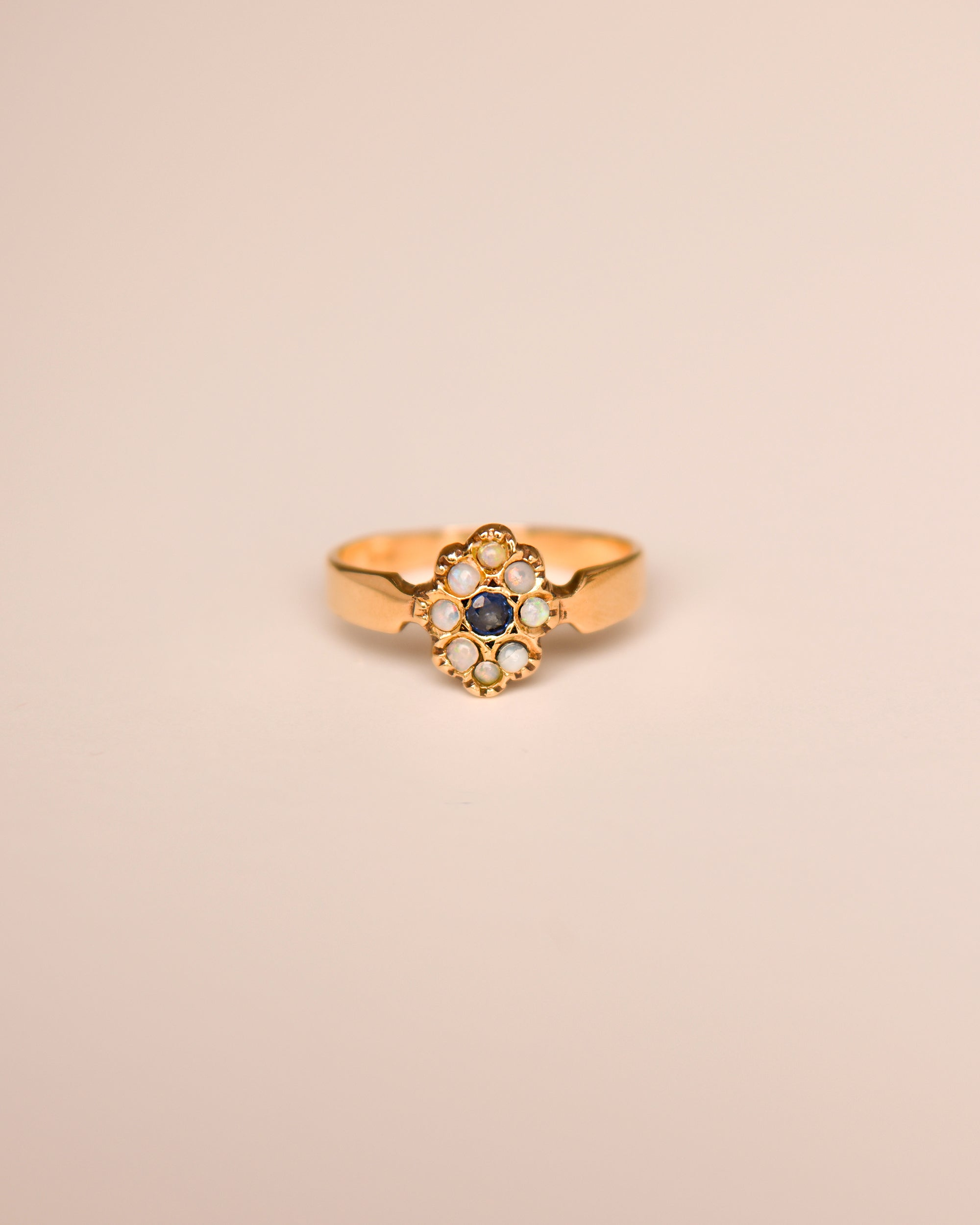 Image of Mirabelle 9ct Gold Vintage Opal & Sapphire Ring