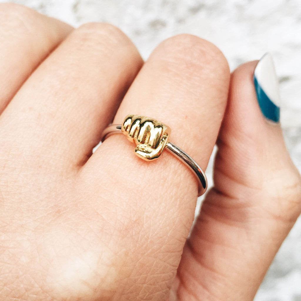 Image of FIST BUMP Sterling Silver Emoji Ring