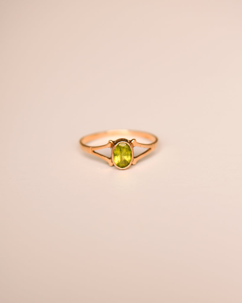 Olive 9ct Gold Vintage Peridot Ring