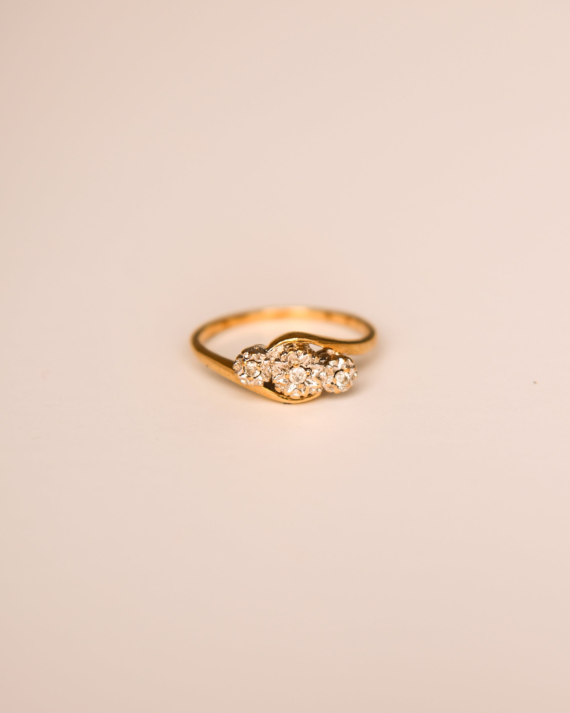 Image of Émilie 9ct Gold Vintage Diamond Ring