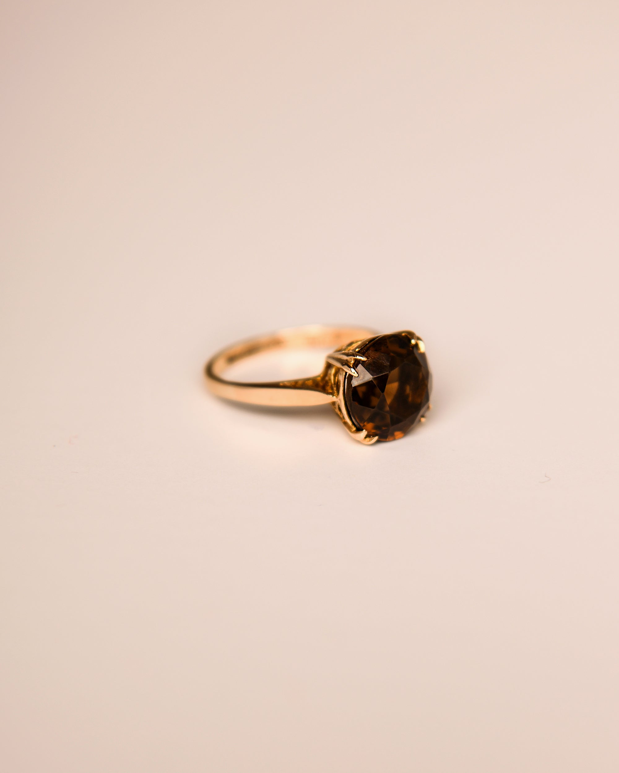 Monet 9ct Gold Vintage Smoky Quartz Ring