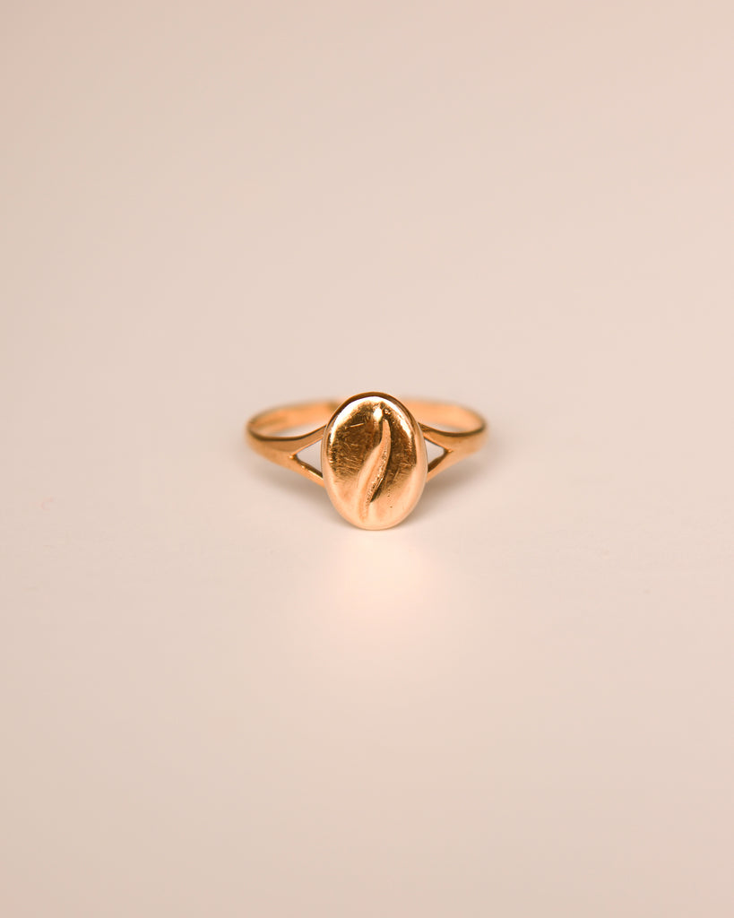 Stella 9ct Gold Vintage Coffee Bean Ring