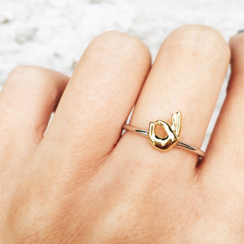 OK Sterling Silver Emoji Ring