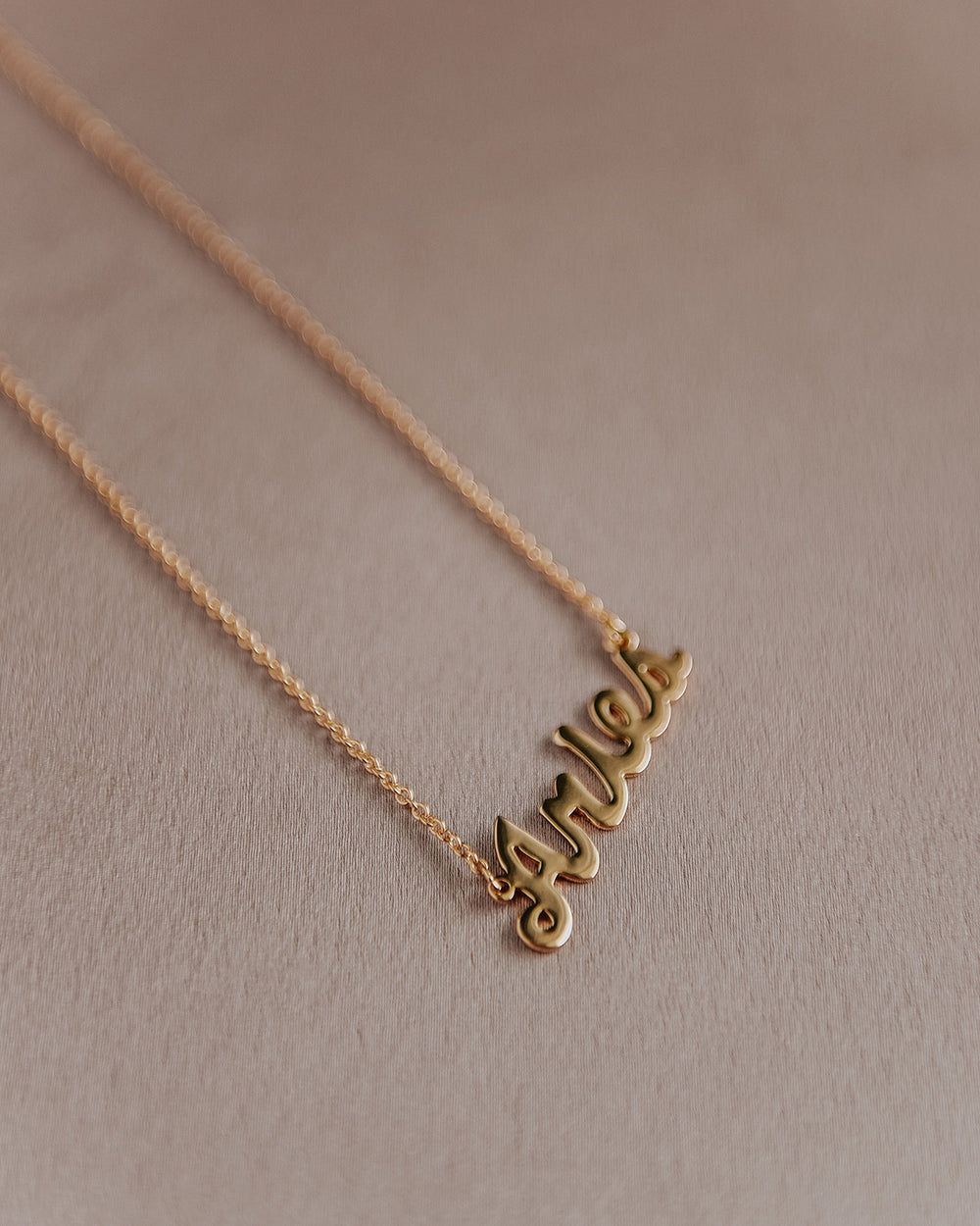 Aries Zodiac Nameplate Necklace