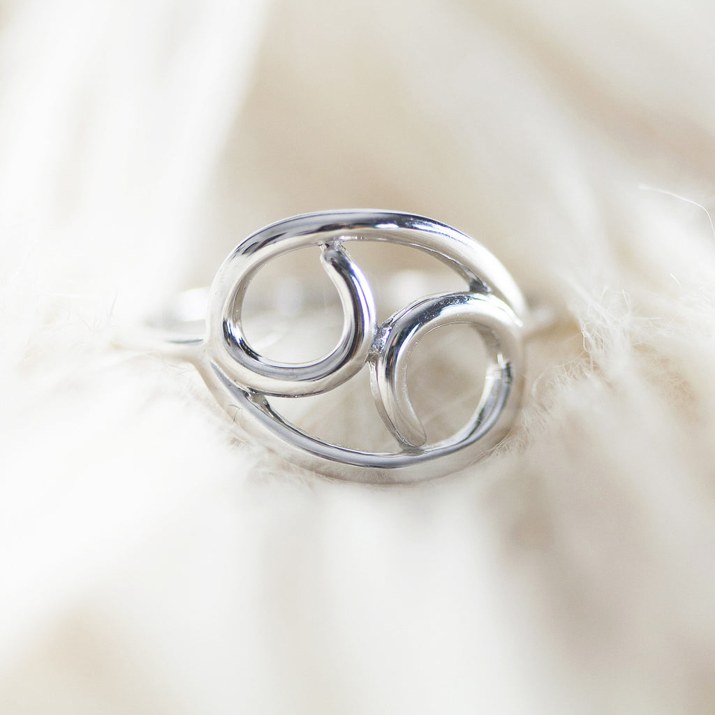 BELLATRIX Cancer Sterling Silver Zodiac Ring