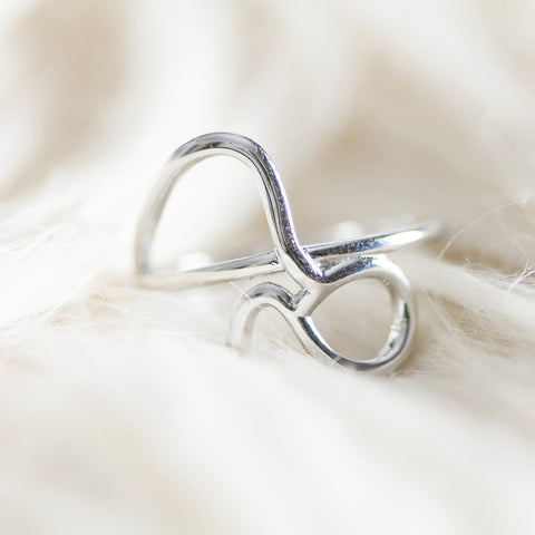 Bellatrix Sterling Silver Zodiac Ring - Capricorn