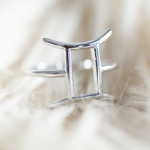 BELLATRIX Gemini Sterling Silver Zodiac Ring