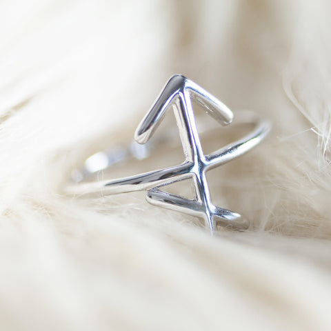 BELLATRIX Sagittarius Sterling Silver Zodiac Ring