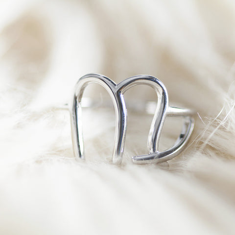 Bellatrix Sterling Silver Zodiac Ring - Virgo