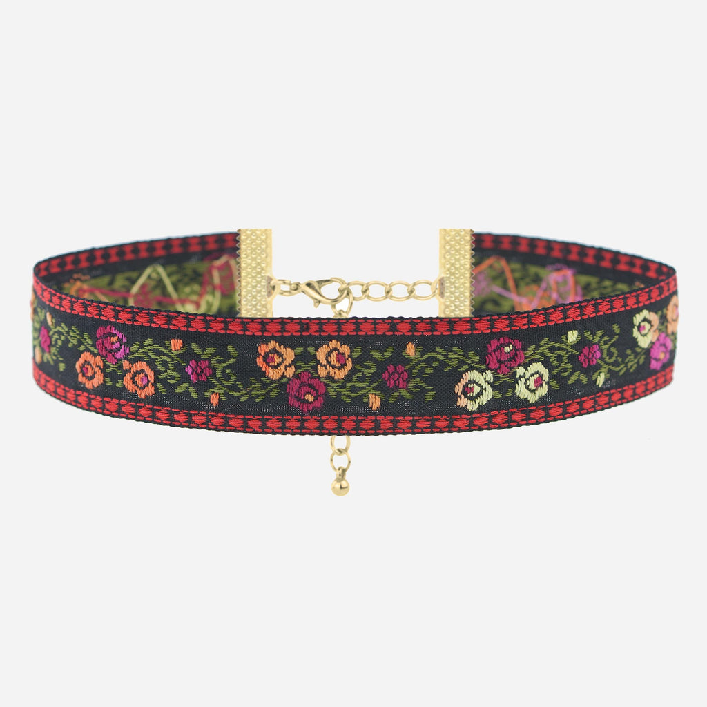 Image of ROSANNA Floral Embroidered Choker